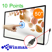 Infrared Touch Screen Monitor 50 inch 10 Points