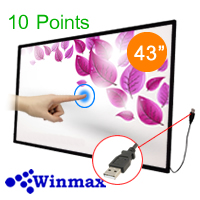 Infrared Touch Screen Monitor 43 inch 10 Points